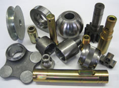 Steel, aluminium, light alloys, bronze, brass, plastic and polyesters.